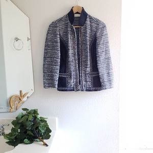 Chico's Blue White Jacket Size 0/Small